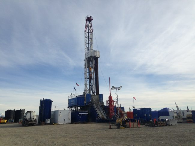 Exploration well Tolsona No. 1, located about 11 miles West of Glennallen, Alaska (Photo by Elizabeth Harball. alaska's Energy Desk - Anchorage)
