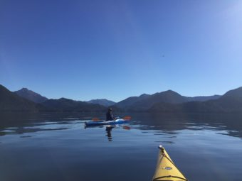 A Kayaker on Sitka Sound, Sunday, Oct. 9th, 2016 (Photo by Emily Russell, KCAW - Sitka)