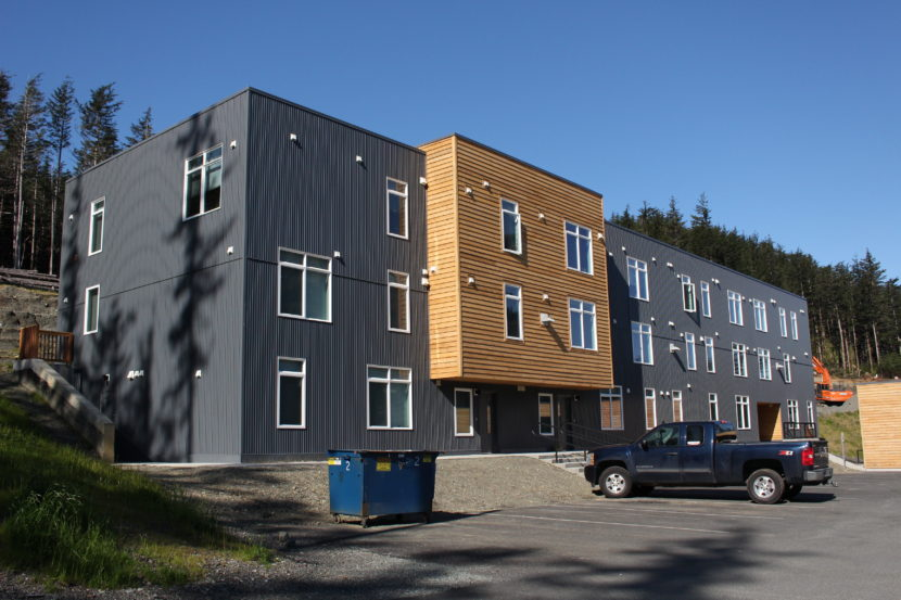 The Terraces at Lawson Creek are a recently completed affordable housing complex on Douglas. (Photo by Elizabeth Jenkins, KTOO - Juneau)