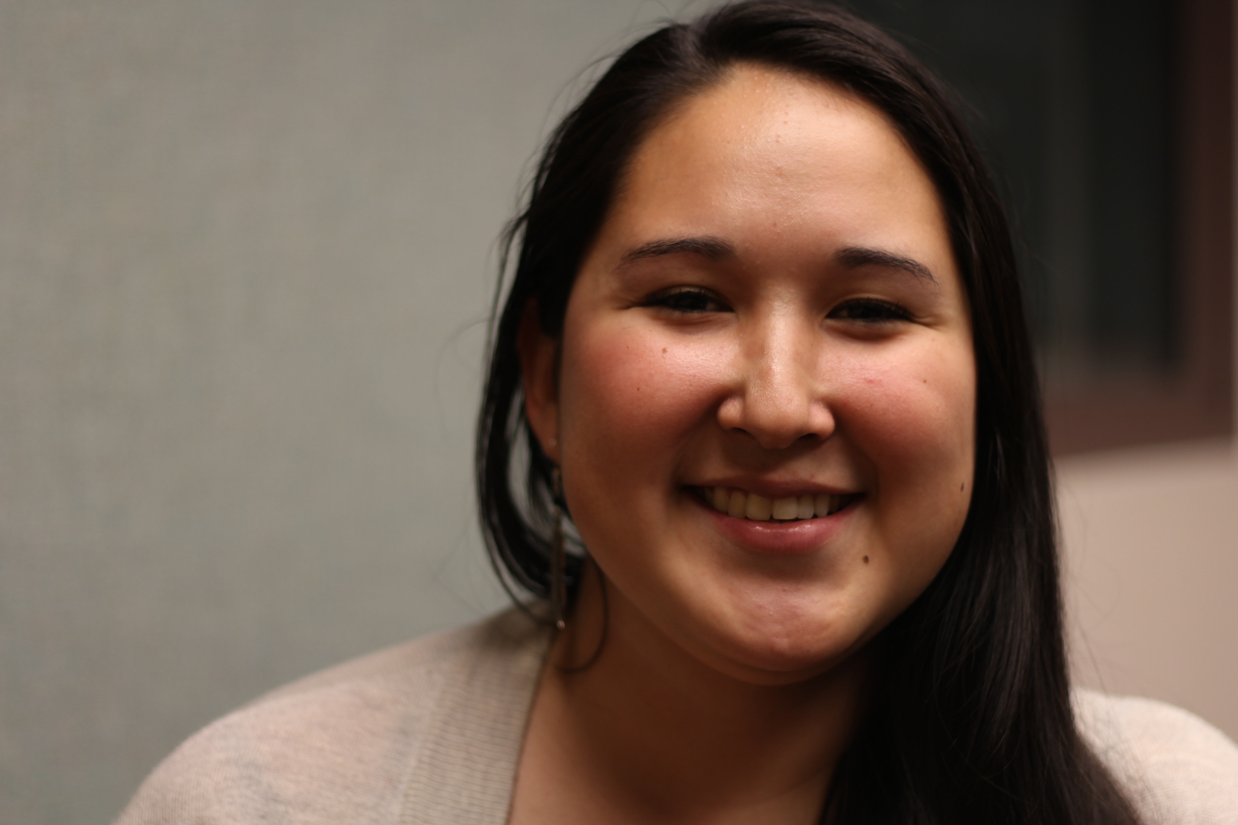 Jacqui Lambert of Kotzebue. Lambert is currently a student at UAA. (Photo by Wesley Early, Alaska Public Media - Anchorage)
