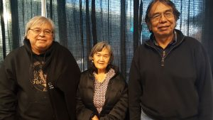 Jim LaBelle, his wife Susan LaBelle, and Bob Sam at the 2016 Elders and Youth conference in Fairbanks. (Photo by Jennifer Canfield)