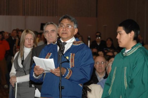 in 2009 testifying before Department of Interior Secretary Ken Salazar. (Photo courtesy of Department of Interior)