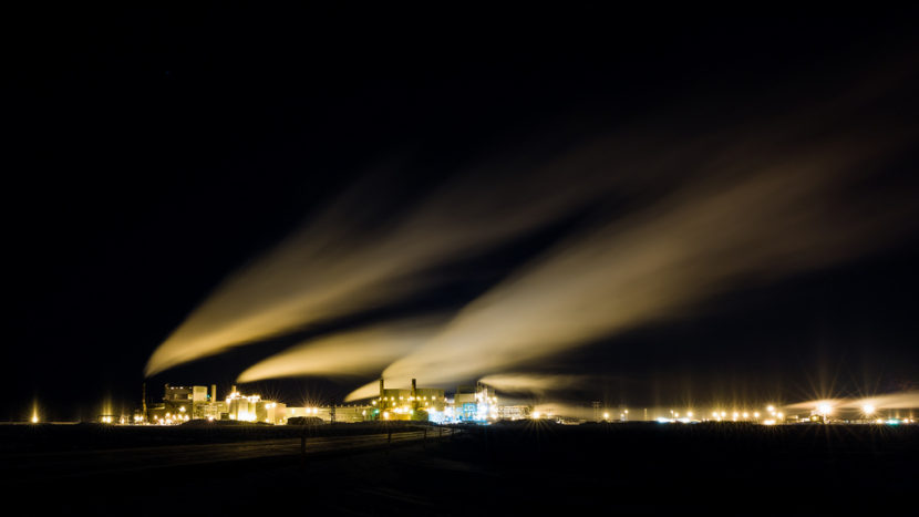 Prudhoe Bay at night. Gov. Bill Walker's team hopes state leadership will mean North Slope gas can someday make it to market. (Photo by J Weston/Flickr Creative Commons)