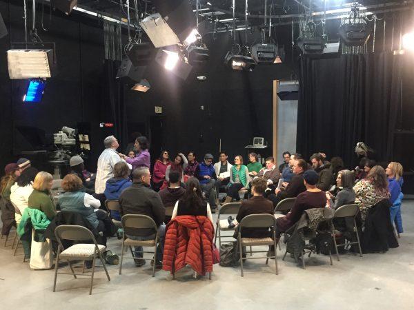 The audience prepares for Community in Unity: Race & Identity on Nov. 17, 2016. (Townsend/Alaska Public Media)