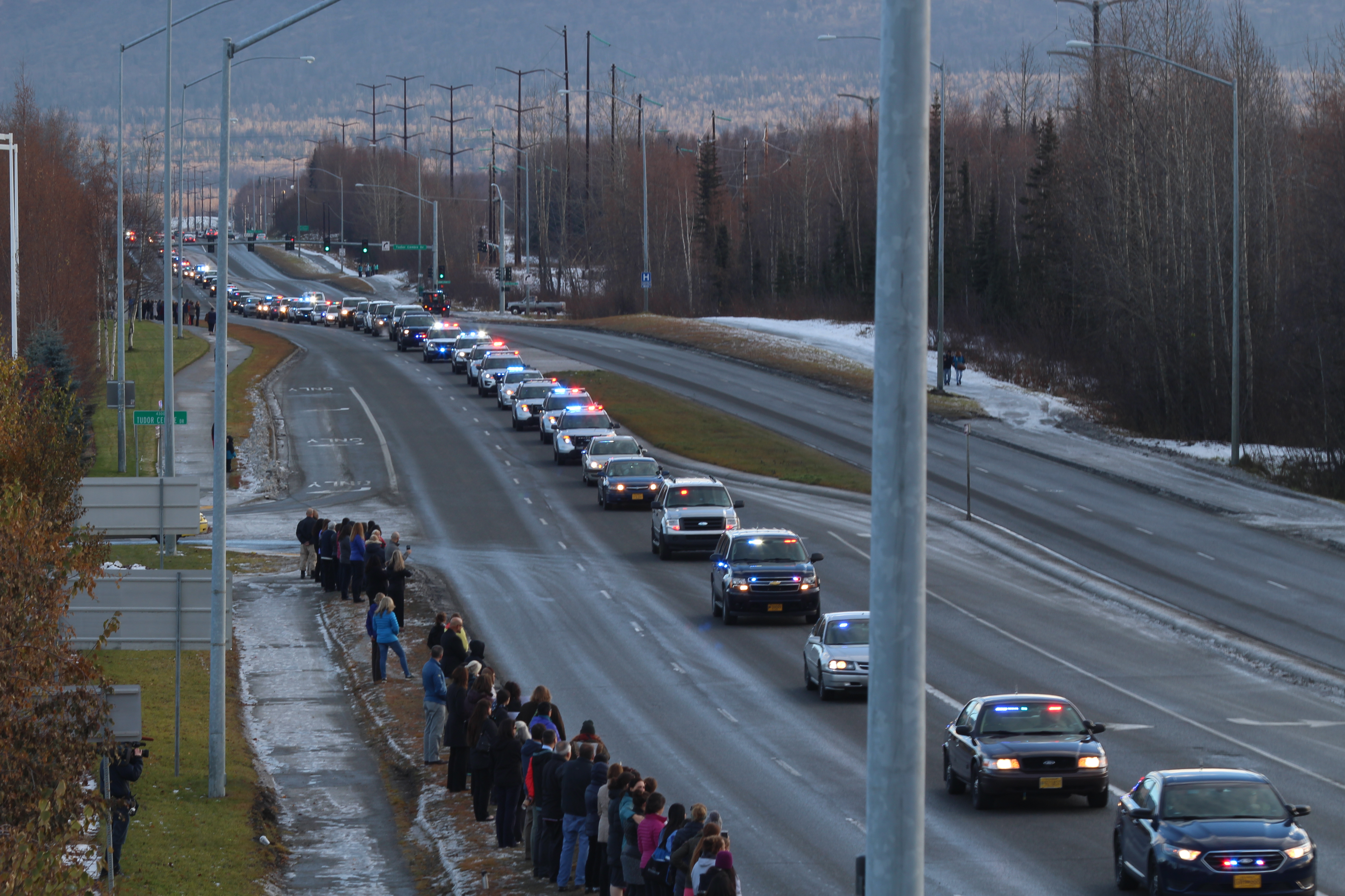 Procession Held In Anchorage For Fallen Fairbanks Police Officer