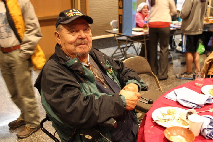 Nelson Frank was born and raised in Sitka. He grew up subsisting off the land and the sea and says the only thing missing was Kanéegwál', a traditional dish of fermented salmon eggs mixed with highbush cranberries. (Photo by Emily Russell, KCAW - Sitka)