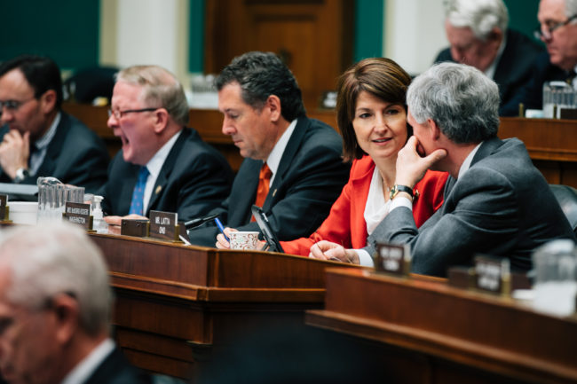 Congresswoman Cathy McMorris Rodgers during a markup in the Energy & Commerce Committee this year. (Photo courtesy office of Rep. Cathy McMorris Rodgers)