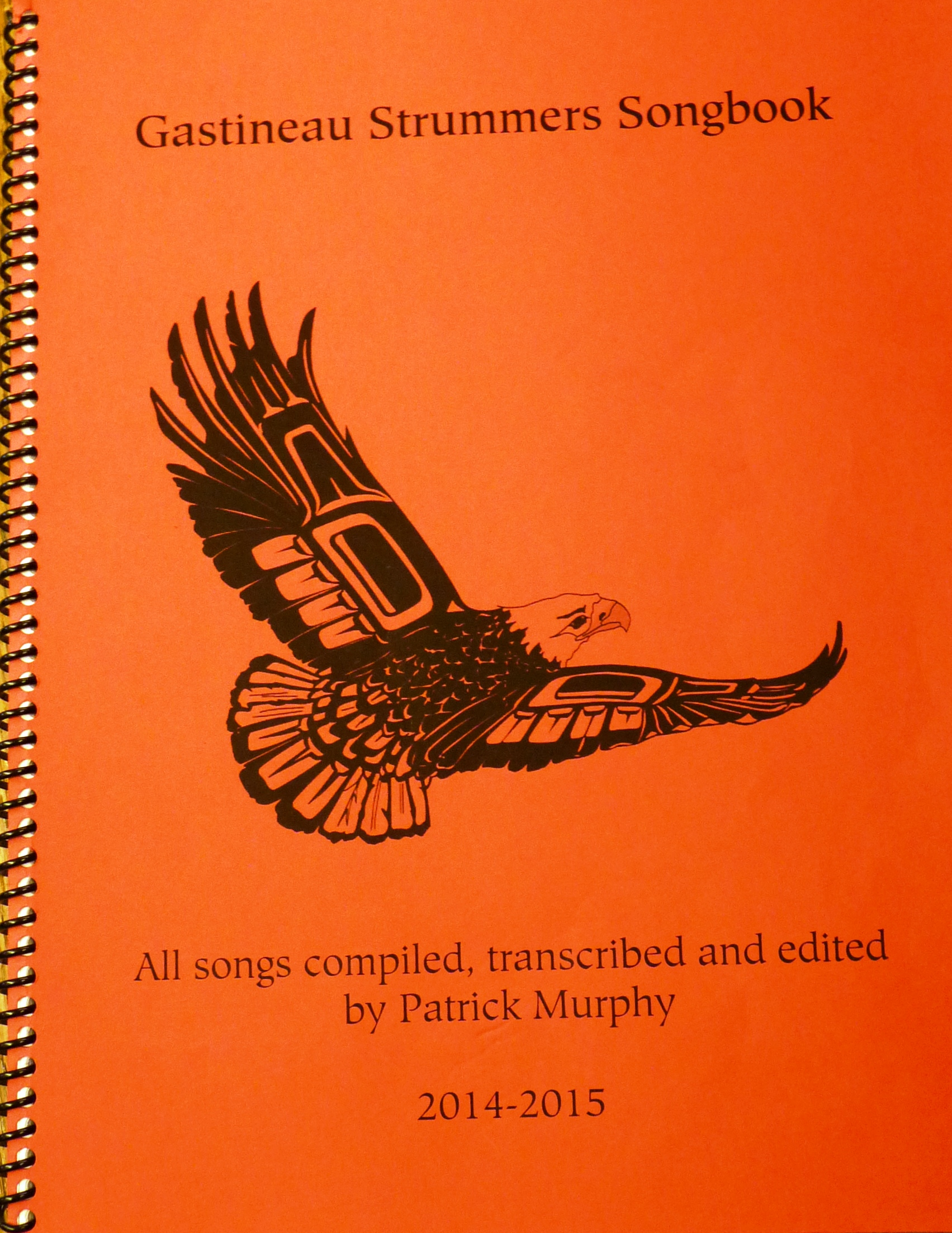 The songbook assembled by Gastineau Elementary School teacher Patrick Murphy. (Photo by Ed Schoenfeld, CoastAlaska News)