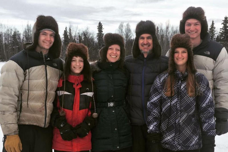 Husband Scott Blom and the two youngest Blom children, Zach and Katilyn, were lost last week when their plane went down, apparently in Lake Clark. (Photo courtesy the Blom family)