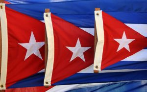 The Cuban flag. Photo: Frans Persoon