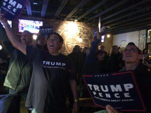 Jerry Ward on election night 2016. Photo by Rachel Waldholz.