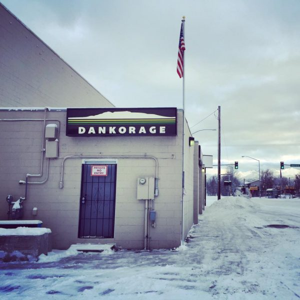 A view of Anchorage cannabis retailer Dankorage in Spenard (Photo via Facebook)