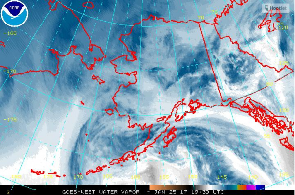 Rain and temperatures reaching into the 40s are forecast for Seward and Anchorage. (Image via NOAA)