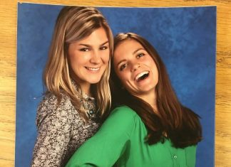 First/second grade optional program teachers Shoshana Keegan (left) and Rosalind Worcester (right) pose in a school photo. (Courtesy Rosalind Worcester)