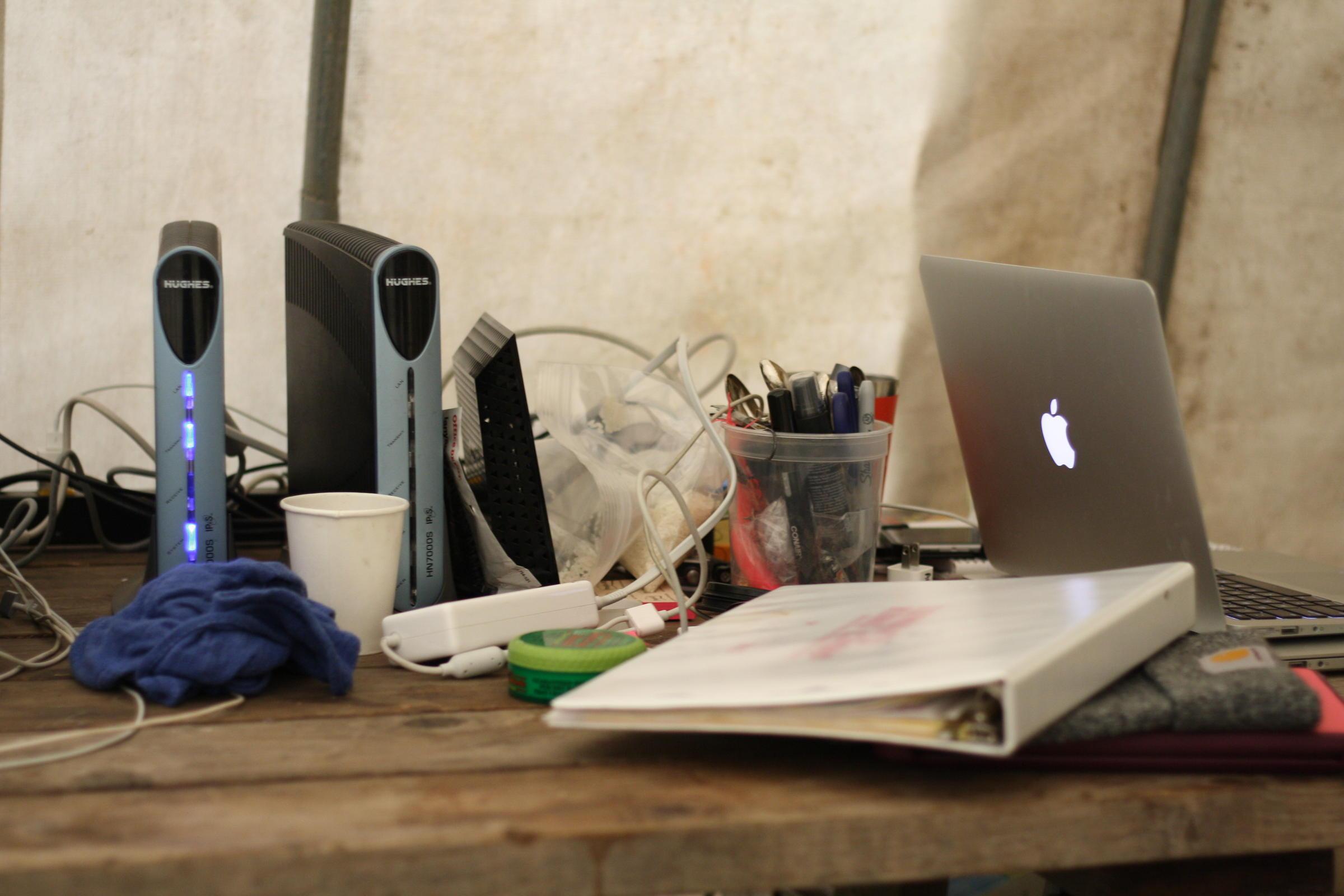 makeshift office. Andi Hakanson\u0027s Makeshift Office. (Photo: Allison Mollenkamp) Office U