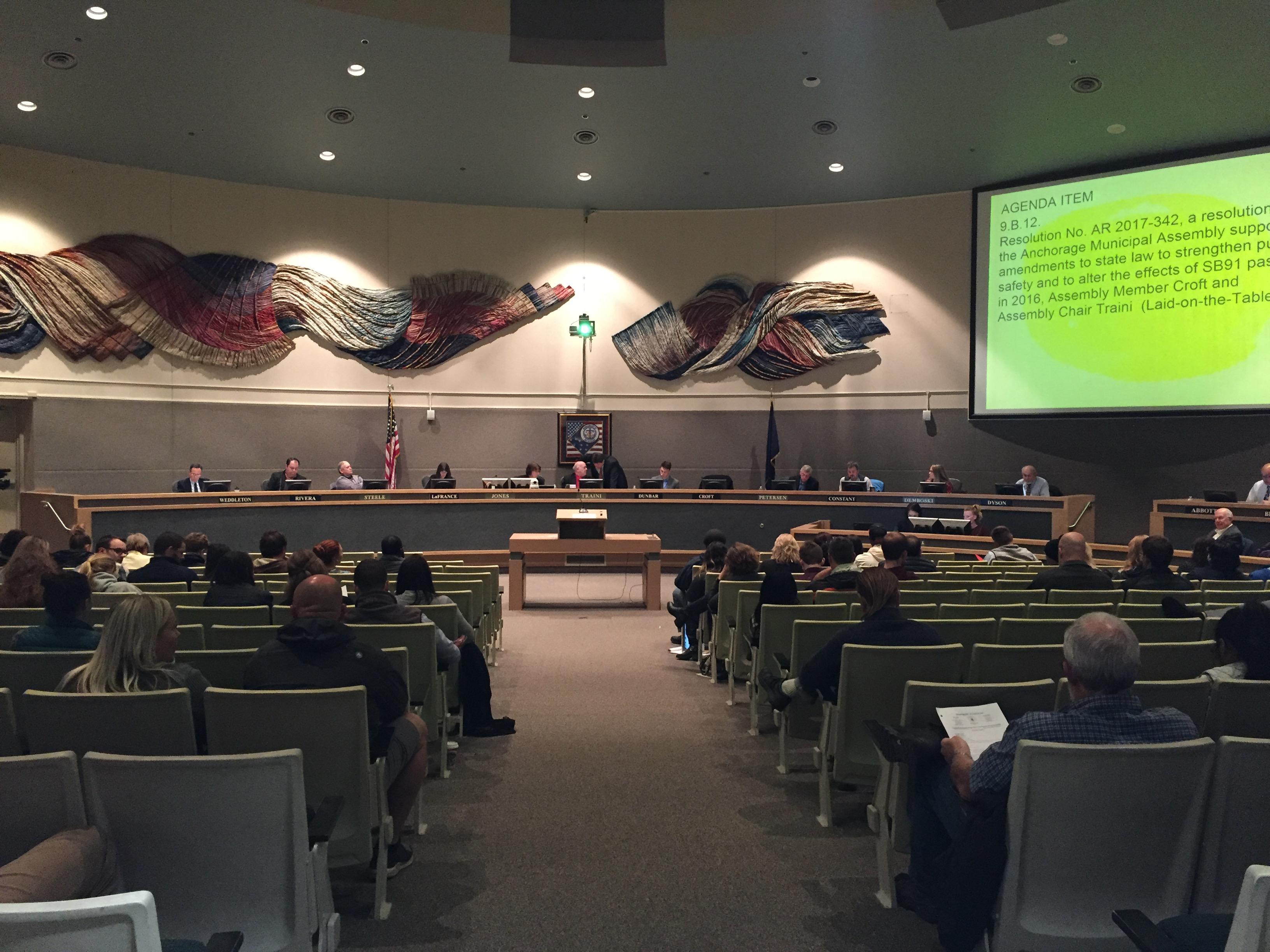 Assembly Members During An October Meeting (Photo: Zachariah Hughes U2013  Alaska Public Media)