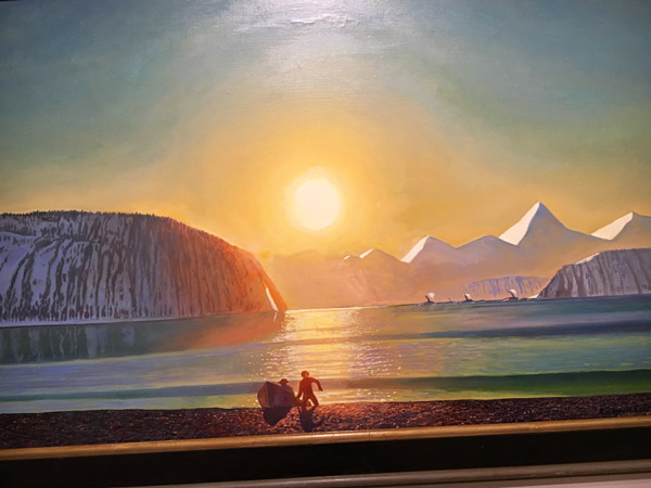 Resurrection Bay, Alaska by Rockwell Kent.