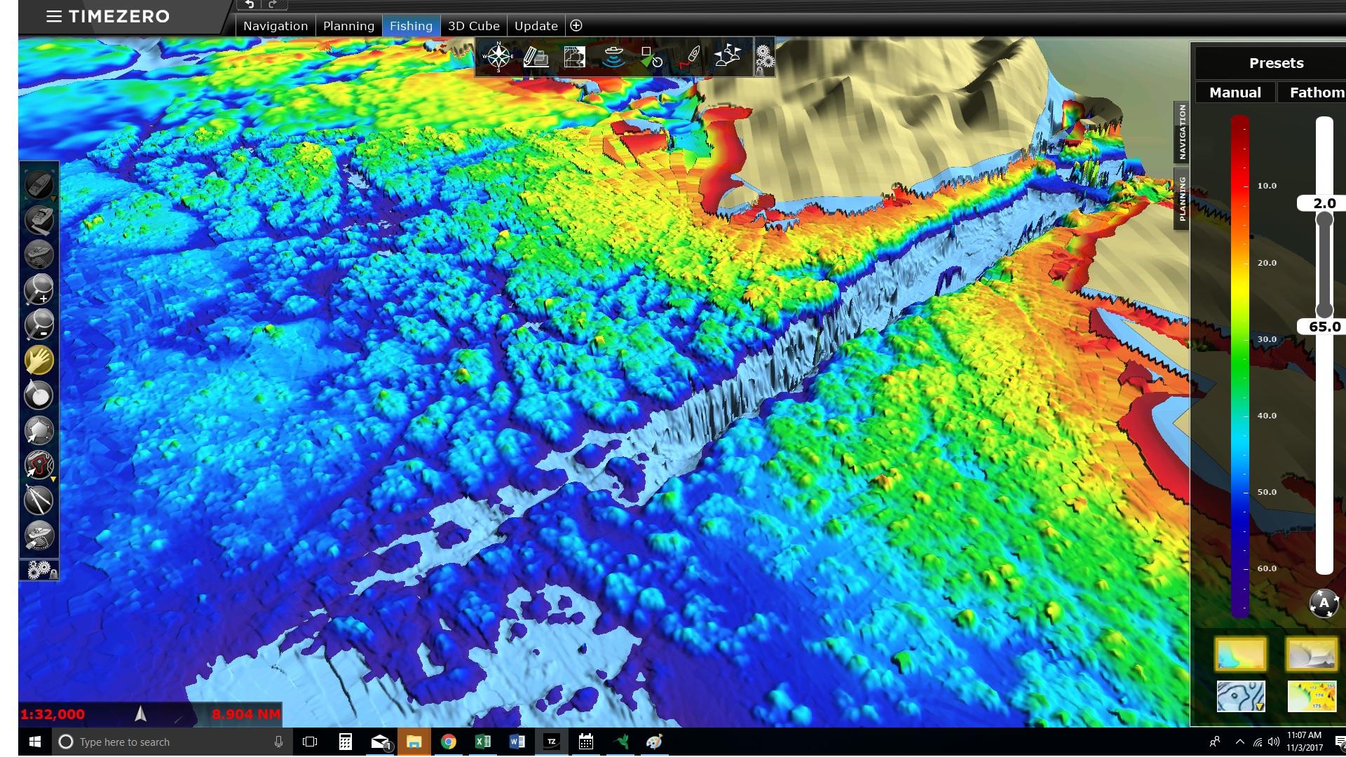 Topographic Map Of Ocean Floor.Fishermen S Network Creates Map Of Ocean Floor To Reduce Bycatch