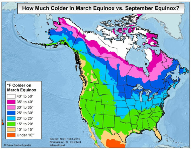 Ask A Climatologist The Spring Equinox Doesnt Mark The