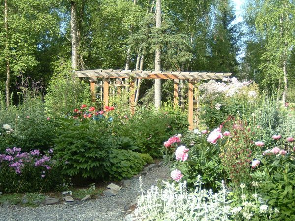 Perennial garden at the Alaska Botanical Garden