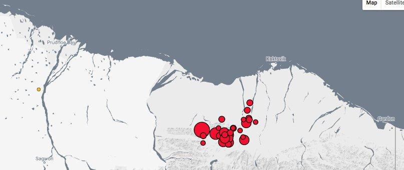 Magnitude 6.4 quake recorded southwest of Kaktovik, breaking record for area