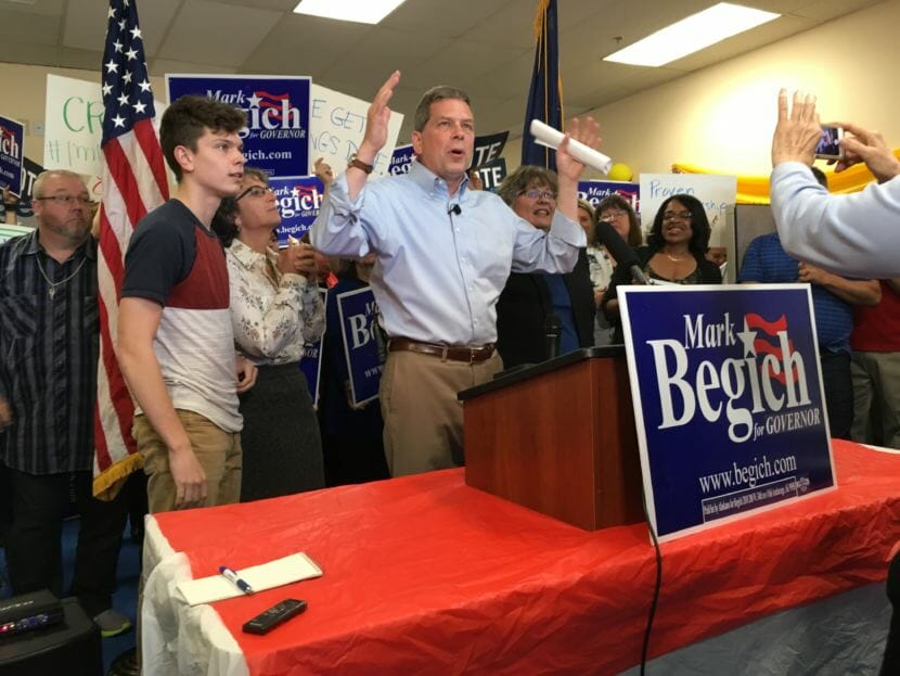 Begich stays in governor's race, says 'get used to it'