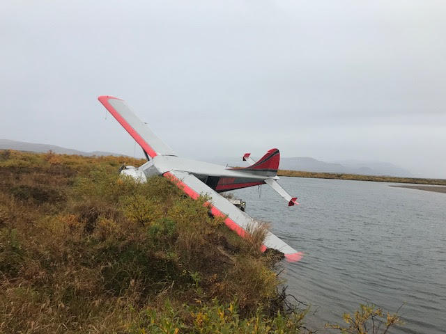 Floatplane crashes while step taxiing in Katmai National Park and Preserve