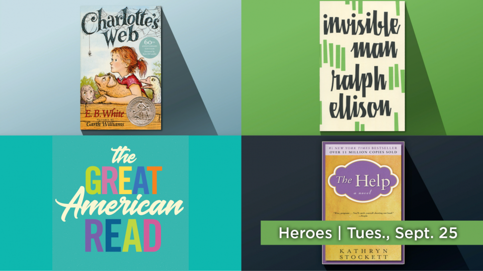 "Tune in Sept. 25 for ""Heroes"" as part of The Great American Read"