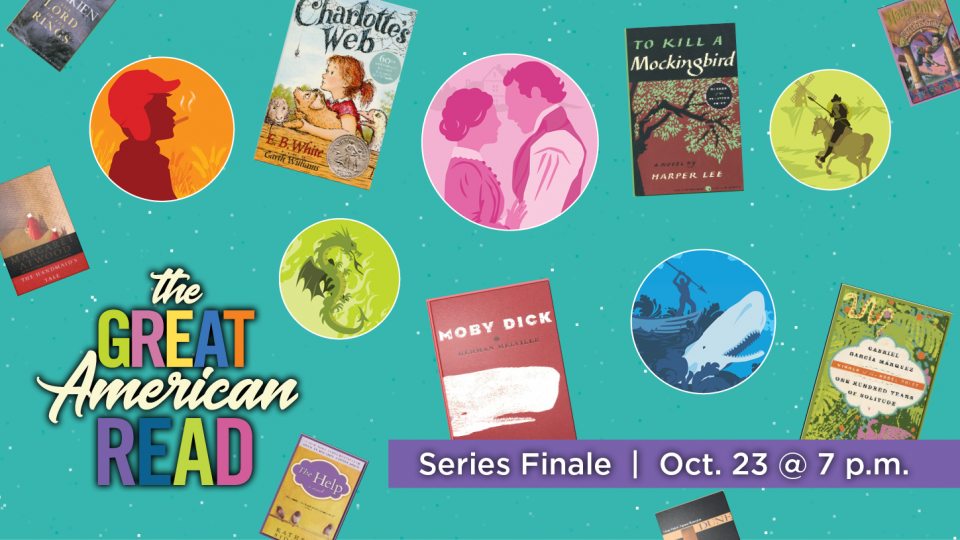 100 Books. 1 Winner. Don't miss the finale of The Great American Read!