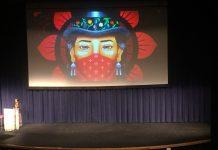 Writer and activist Winona LaDuke speaking at the University of Alaska Anchorage