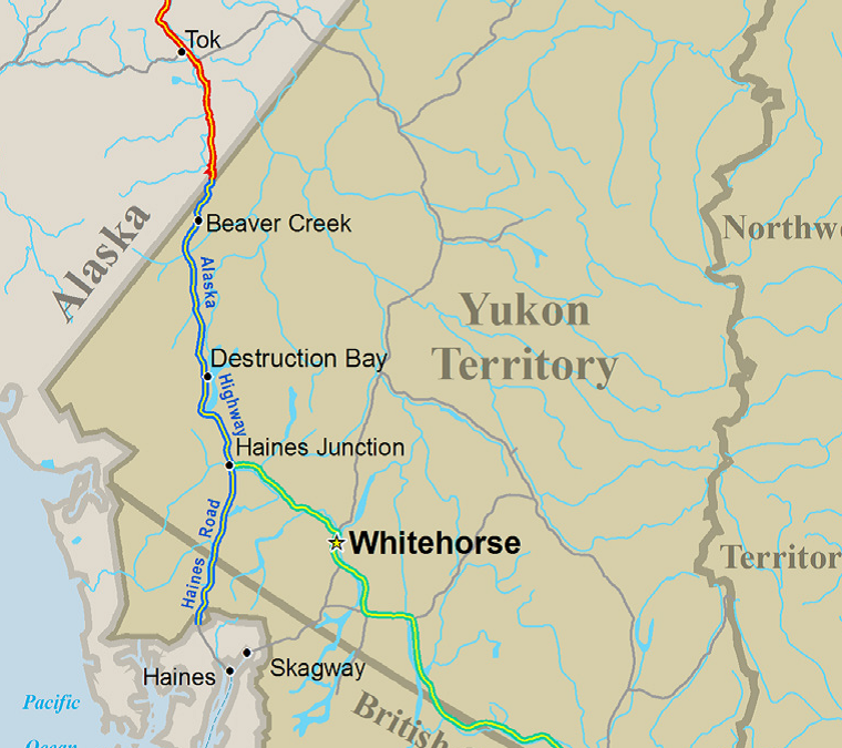 Yukon Territory says the US is on the hook for Alaska Highway ... on klondike map, nova scotia map, british columbia map, yukon canada map, scribner creek yukon map, yukon trail map, whitehorse yukon map, new brunswick map, yukon region map, ontario map, yukon mountains map, nunavut map, quebec map, alberta map, yukon gold trail, newfoundland map, yukon highway map, yukon country map, yukon alaska, yukon place map,