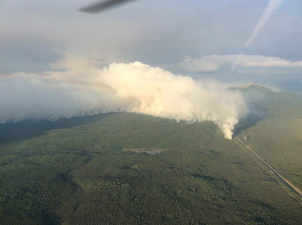 Traffic flow remains intermittent as Swan Lake Fire grows