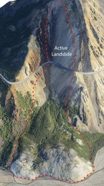 A stretch of the Denali Park Road sits atop a creeping landslide. And it's picking up speed.