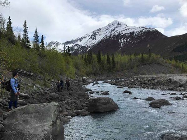 Crow Pass Trail on May 18, 2019 (Photo by L. Parker)