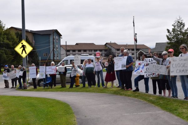 Sitkans protest conditions in detention centers from afar