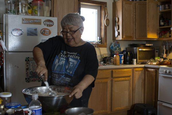 Sarah James (Photo by Elizabeth Harball/Alaska's Energy Desk)