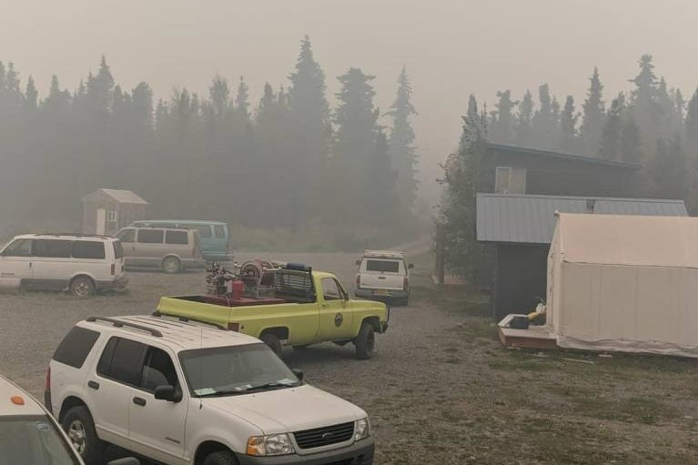 Swan Lake fire pushes Cooper Landing's smoky air quality off the charts, literally