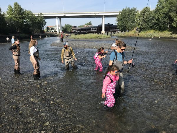 With hopes to connect Anchorage kids to wildlife, program teaches safe angling