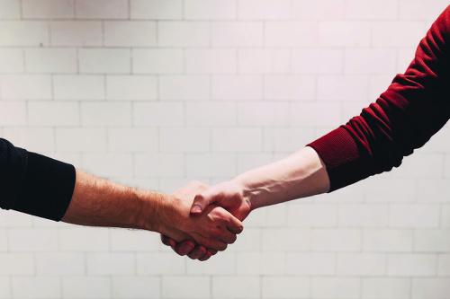 Sponsorship Image of Shaking Hands