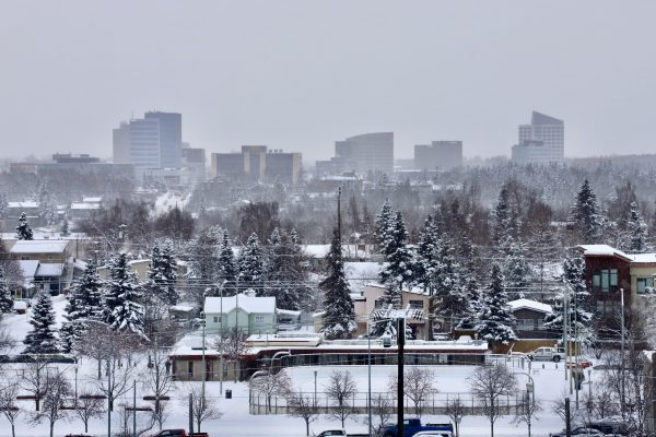 Photos Snow In Anchorage But Maybe Not For Long The Weather Service Says Alaska Public Media