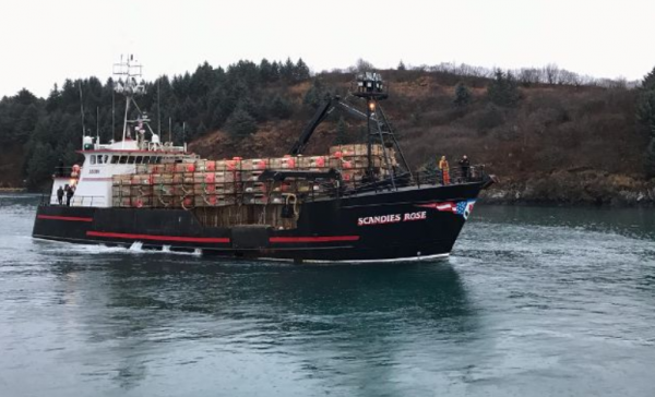 The U.S. Coast Guard suspended its search on Wednesday evening for five people still missing after their vessel, the F/V Scandies Rose, sank on New Years Eve. (GERRY COBBAN KNAGIN)