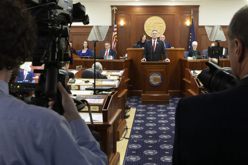 With a recall looming, the session opens quietly, the governor no longer a firebrand on budget cuts - Alaska Public Media
