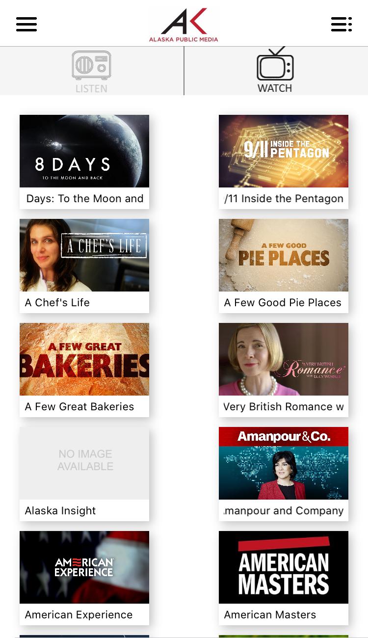 Screenshot of Watching TV Programs Using the AKPM App