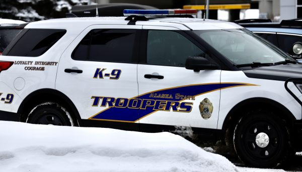 A white Alaska State Troopers SUV.