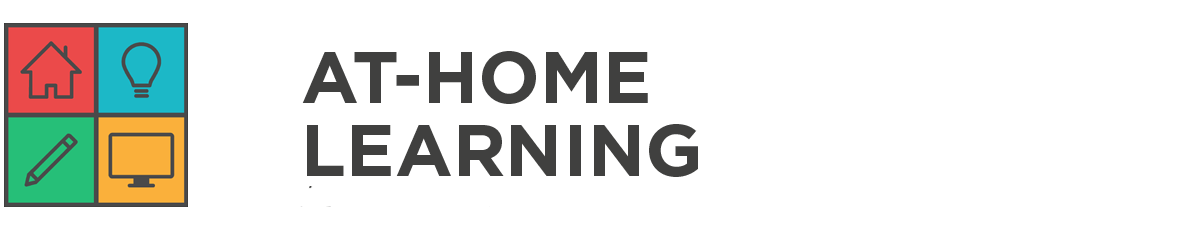 at home learning banner