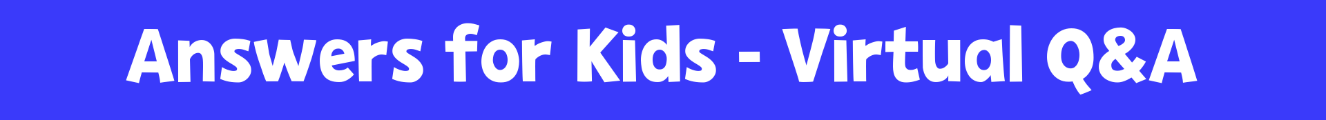answer for kids banner