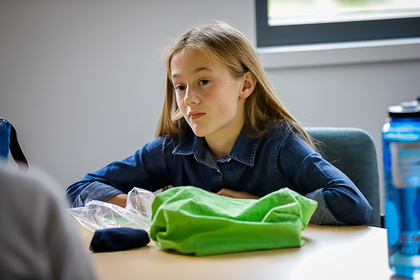 a student eating lunch