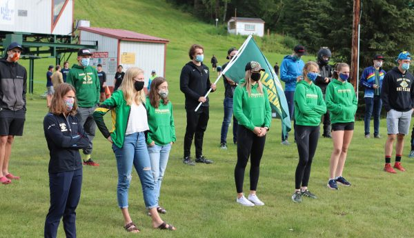 Athletes, alumni and coaches from the University of Alaska Anchorage ski team gathered alongside community members on Thursday, Aug. 27, at the Hilltop Ski Area to save skiing. They listened to alumni talk about the impact the sport has had on the community.