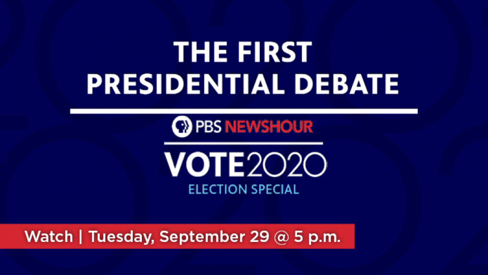 Watch the First Presidential Debate on Tuesday, September 29 at 5 p.m. on Alaska Public Media TV.
