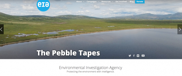 screen shot of the cover slide for the tapes with an image of water and land from the air